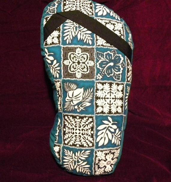 Flip Flop Pillow-Teal Hawaii Print