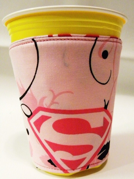 Super Girl Coffee Cup Cozy