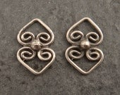 Small Diamond Shaped Filigree Earring Component