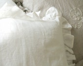 Perfectly Shabby Chic Ruffled Euro Sham