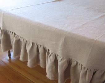 Shabby Frayed Ruffle Tablecloth