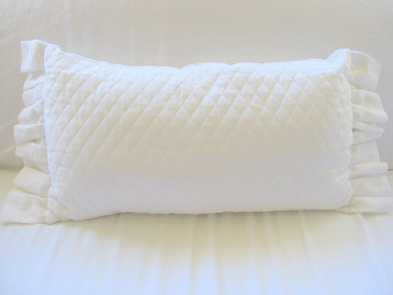 The Lotta Quilted Ruffle Pillow