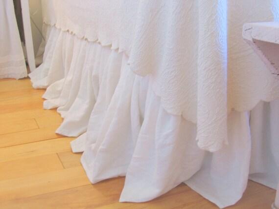 The Annabelle Linen Dust Ruffle King Size