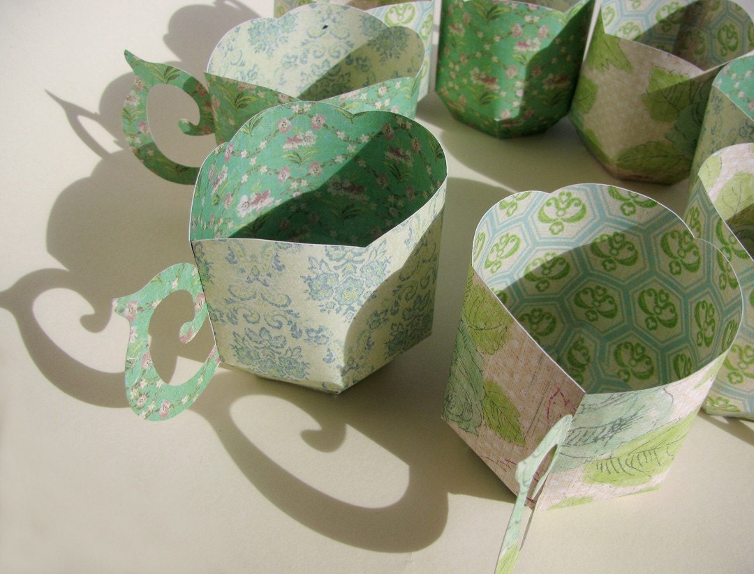 R e s e r v e d tea cup party favor boxes paper for Teacup party favors