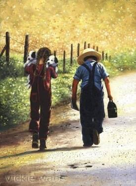 Country Kids Art Print Childrens Wall Art Boy By