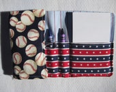 Crayon Wallet in Baseball, Easter gift, Party favor