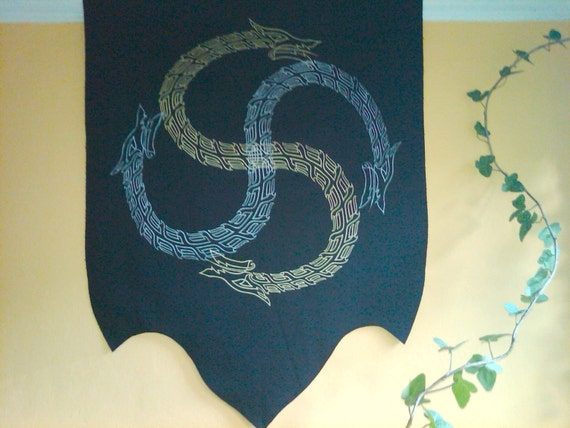 Serpent Swastika Banner of Natural Forces and Seasonal Tides