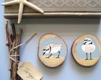 beach birdie wooden ornaments