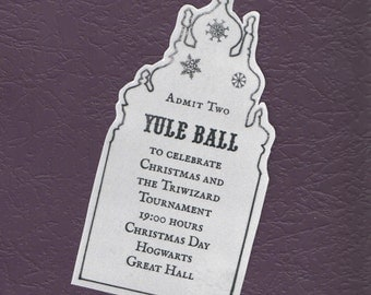 Yule Ball Ticket Replica Prop Witch or Wizard
