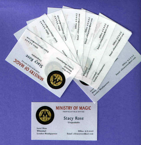 ministry of magic business cards set of 10 personalized for a. Black Bedroom Furniture Sets. Home Design Ideas