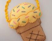 IPod Touch / Phone Case - Ice Cream Cone mini purse!