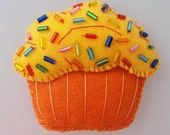 Yellow Cupcake Magnet - For Any Occasion