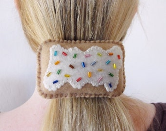 Sale 50% off! - Hair Barrette - Cute Toaster Pastry