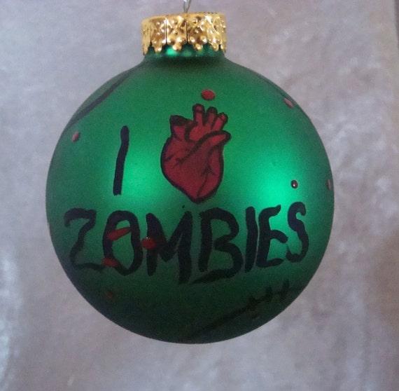 zombie ornaments i love zombie ornament walking dead. Black Bedroom Furniture Sets. Home Design Ideas