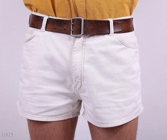 Vintage shorts for Men / White Resort Shorts / Medium
