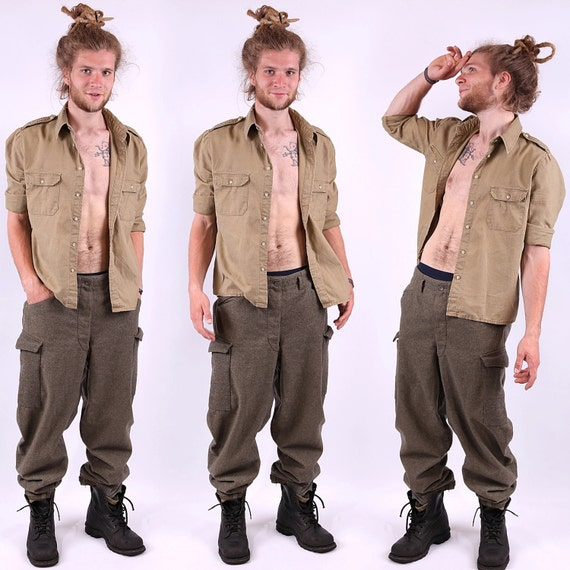 1910s Mens Military Trousers Antique Army War Era Pants