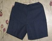 VINTAGE 1940s  1950s    Ladies high waist   navy blue Jamaica  shorts  New w tag sz 16