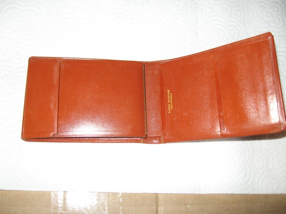 Vintage Lord Buxton Saddle Cowhide Wallet Brown  new condition