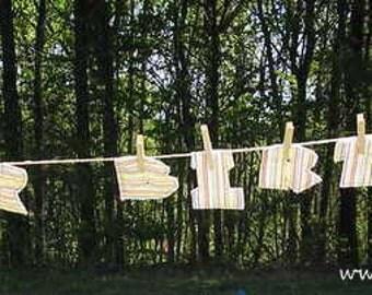 "REDUCED!! Fabric ""Happy Birthday"" Banner"