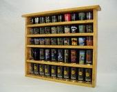 Custom order for Micelle. Single shelf, Cheyenne series 40 Shot Glass Display Case with Black Felt Background