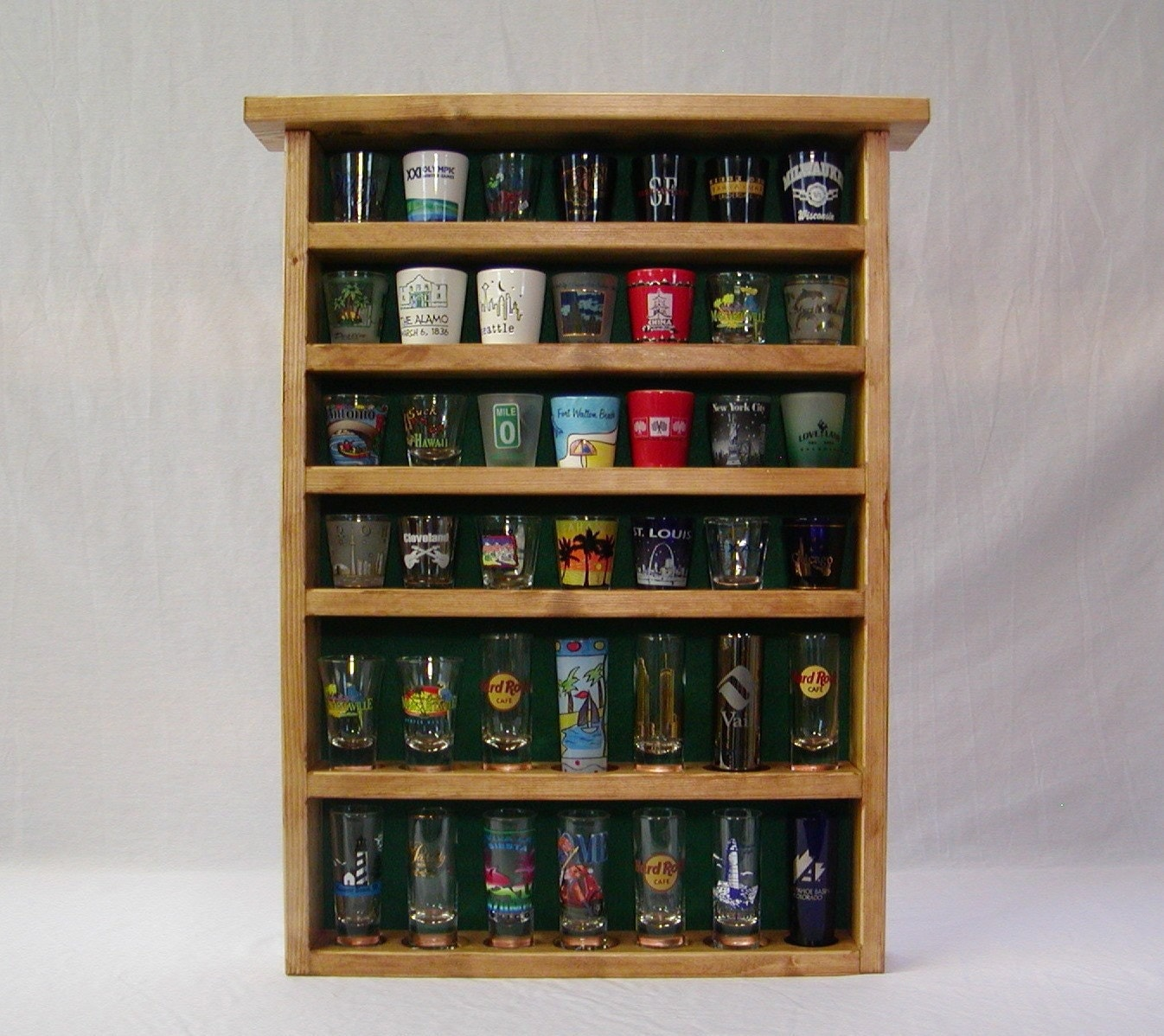 Double Shot Glass Display Case