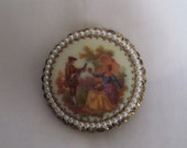 West Germany Courting Couple Brooch