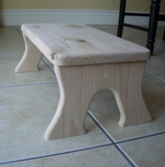 Items Similar To Step Stool Wooden Wood Alder