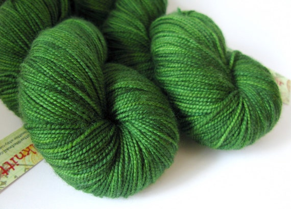 Hand Dyed Merino/Cashmere/Nylon sock yarn - Leaf