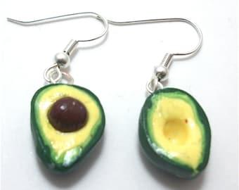 Avocado Polymer Clay Earrings