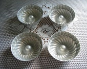 Vintage small aluminum jello molds