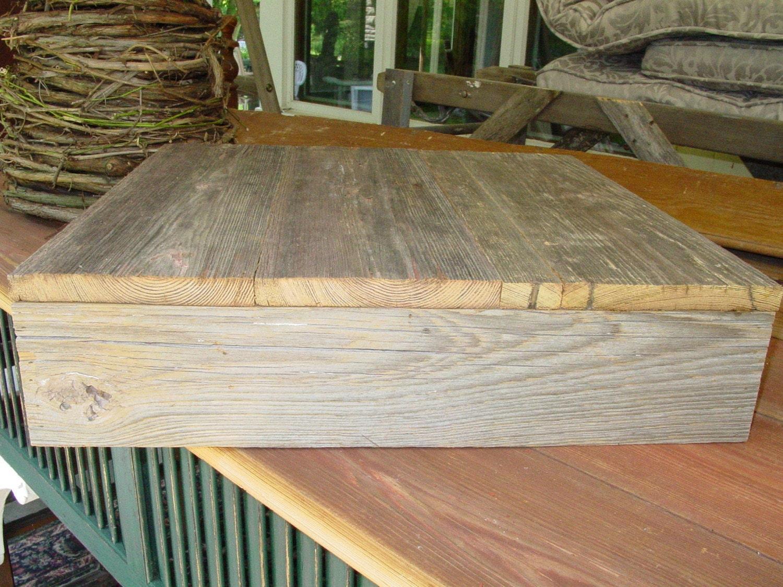 Reclaimed Wood Cake Box Stand Plate Barnwood Primitive