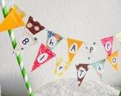 Happy Birthday Little Prince Fabric Cake Bunting Decoration