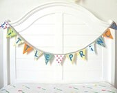 Little Prince Vintage Fabric Bunting Banner, Garland, Pennant Decoration Handmade By A Fête Beckons
