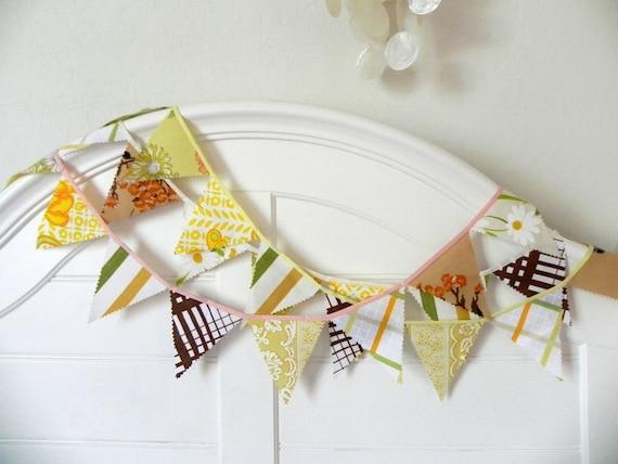 SALE LAST ONE November Harvest Fabric Bunting Decoration 9'