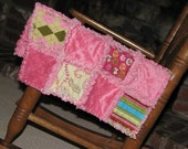 Butterfly lovey blanket wooby Rag tag blanket rag quilt