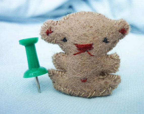 Tiny Teddy Bear: 1 inch miniature plush