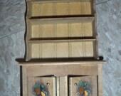 Vintage CUPBOARD dollhouse miniature furniture