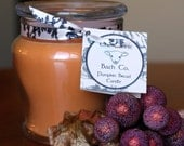 CLEARANCE - Pumpkin Bread 12 oz Soy Candle in Glass Jar with Flat Lid