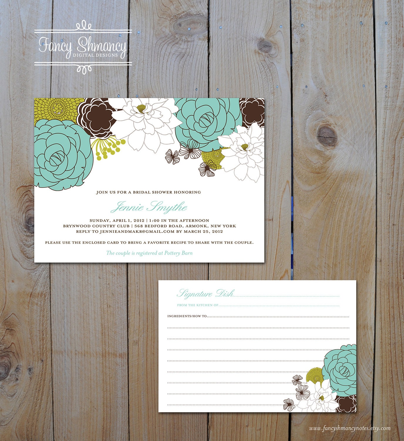 Kitchen Shower Invitations With Recipe Card for best invitations ideas