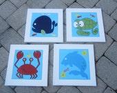 4 pc. 'Under The Sea' Ocean Kids Wall Art