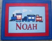 Train Locomotive Kids Personalized Wall art 16x20
