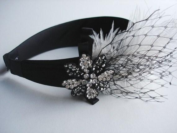 NORA - Black and Ivory Headband