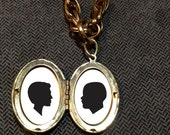 VICTORIAN DREAM  (Custom Silhouettes in an Upcycled vintage locket)