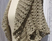 Crochet Shrug Sonia collection in light beige
