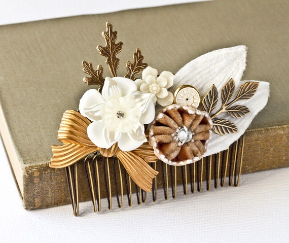 It Is Time - Big Vintage Collage Comb