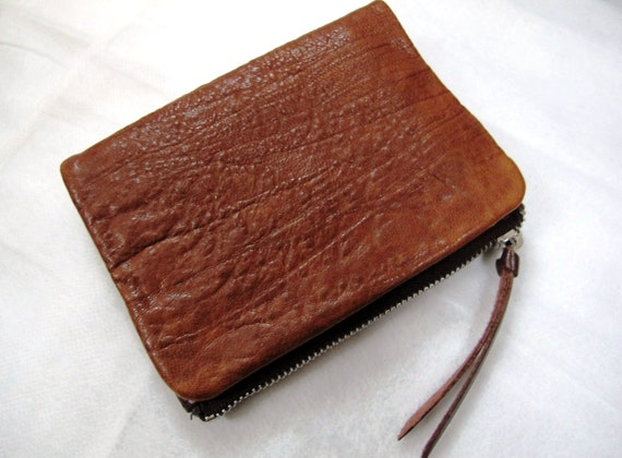 Unisex Leather Wallet - with Bark Texture (Brown only)