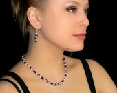 Pink stones necklace - Fine jewelry - Sterling silver (.925) and genuine stones