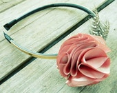 Carnation Fabric Flower Tutorial - embelishment, headband, necklace and hair accessories PDF tutorial