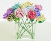 Fabric Flowers & Ribbon Roses tutorial - True LOVE roses bridal Bouquet or vase arrangment  PDF  - No Sew at All