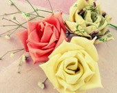fabric flowers tutorial & ribbon flower tutorial  True Love Rose, N0 Sew at all - SALE from 7.50 to 6